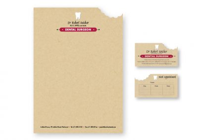 Business card design, letterhead design
